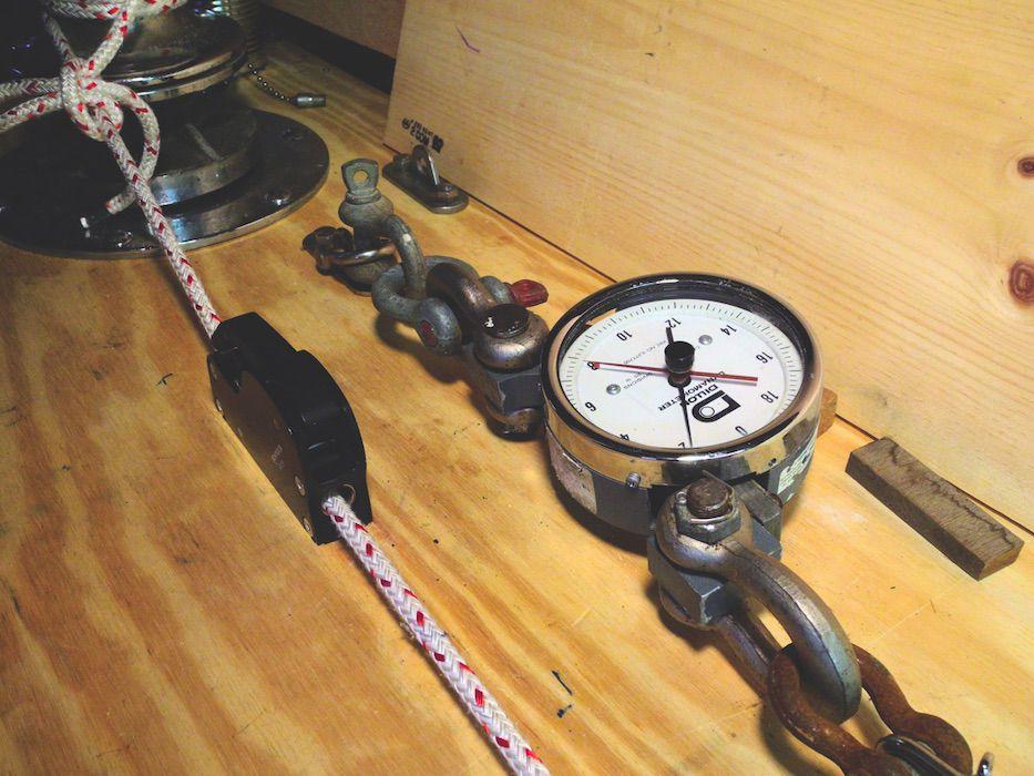 Mainsheet Tackle Bench Test