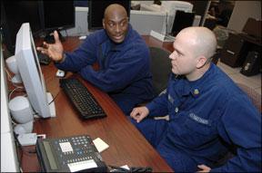 U.S. Coast Guard officers