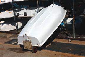 homemade dinghy roller