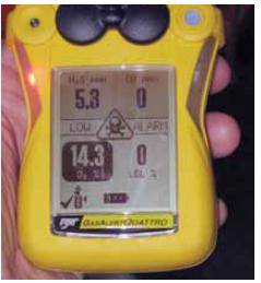 oneywell Gas Alert Quattro gas meter