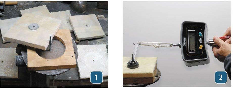 Cored laminate samples