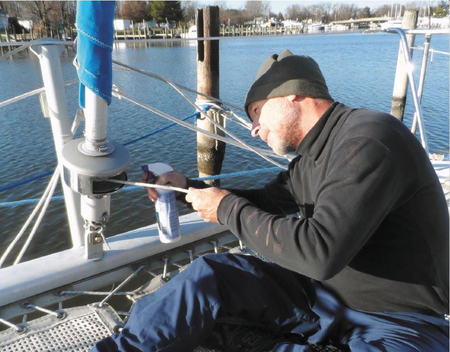 Waterproofing the furling line