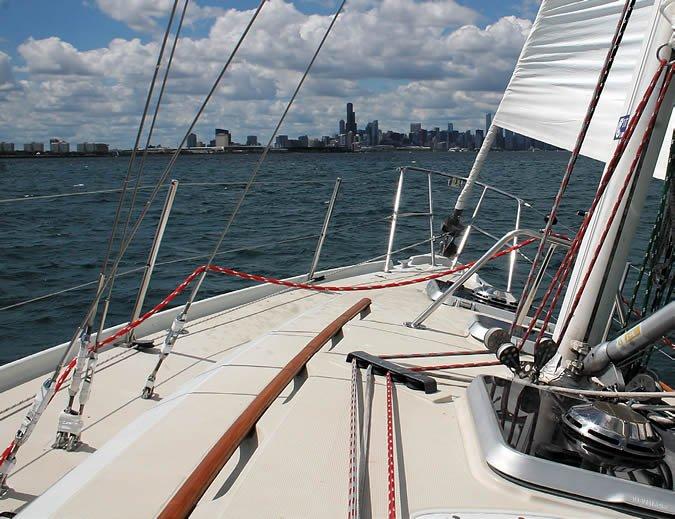 Ericson 34's fiberglass-bonded hull-to-deck