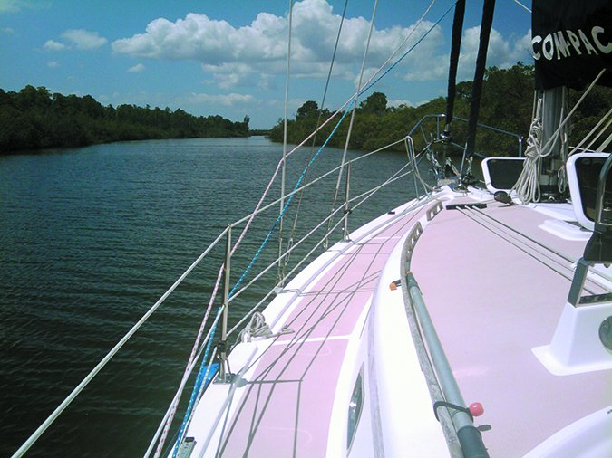 sailboat side deck