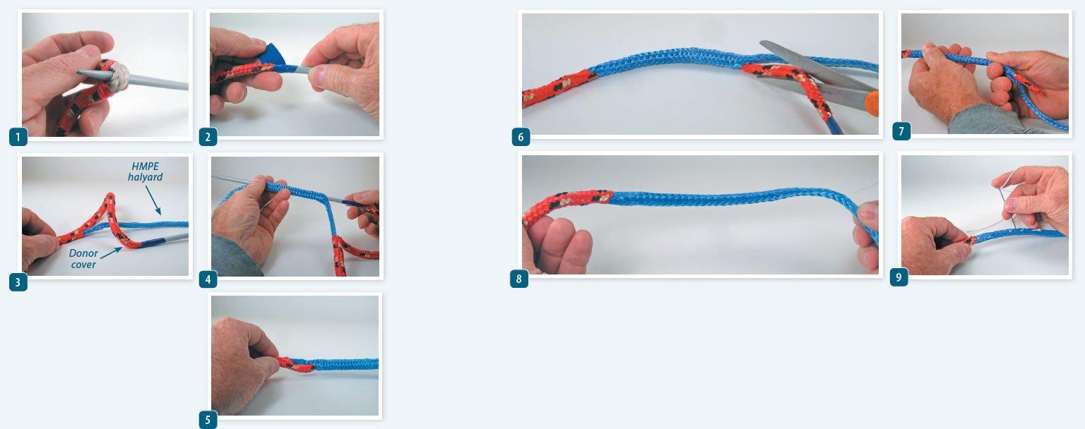 Splicing a Polyethylene Cover