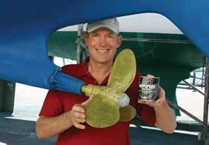 Mahina Expeditions' Capt. John Neal PropSpeed coating