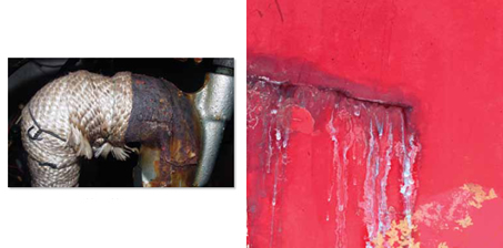 corroded exhaust
