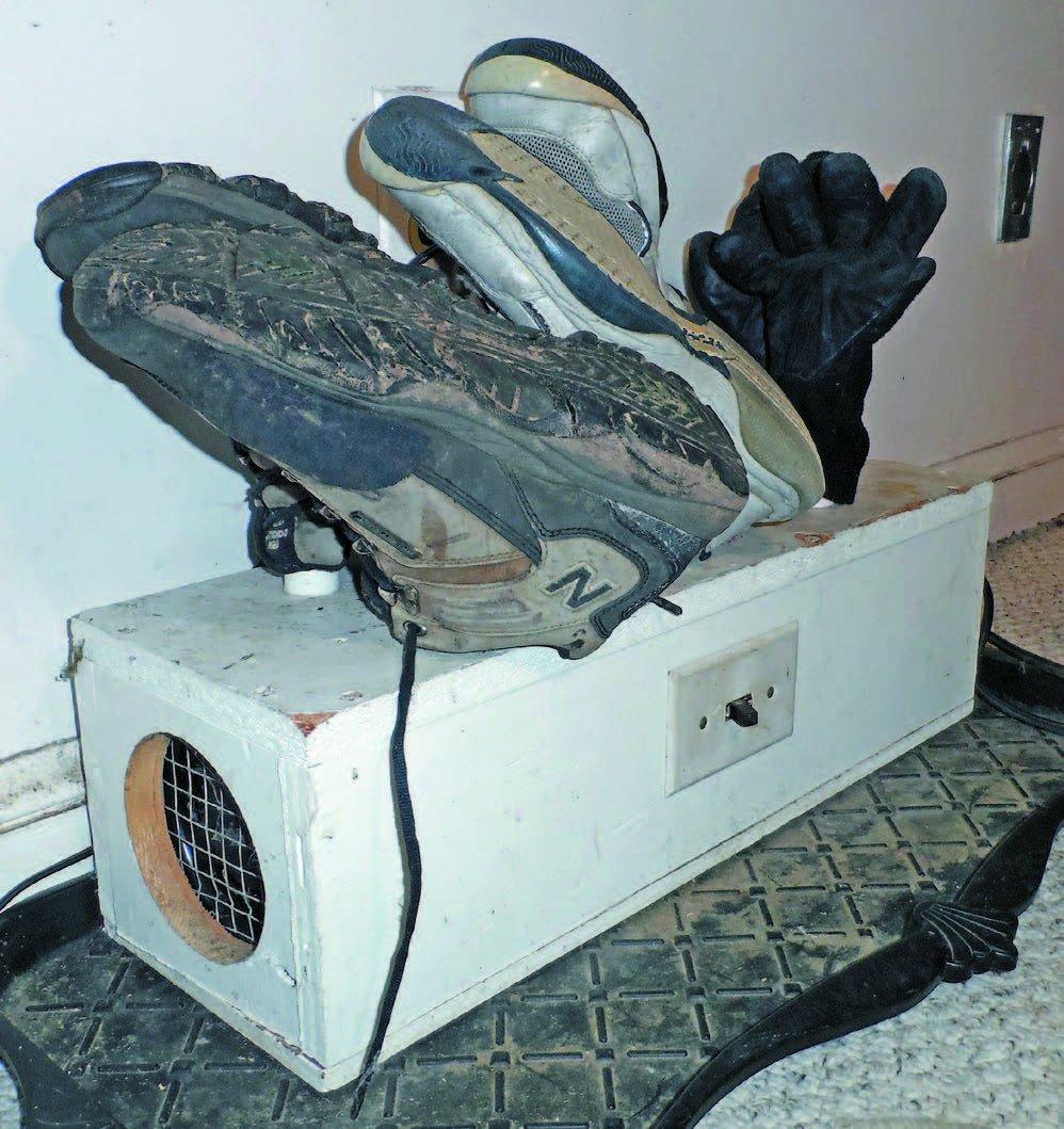 home-made boot warmer