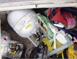 lpg locker on boat