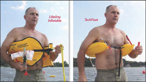 Lifesling Inflatable and the TechFloat MOB Devices