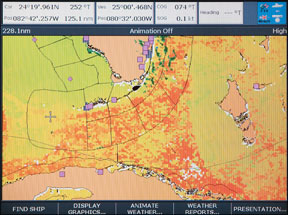 Raymarine/Sirius Satellite Weather Service