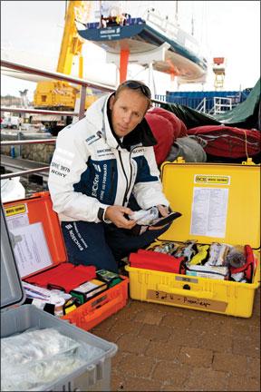 Ericsson 1 crewmember Magnus Woxen