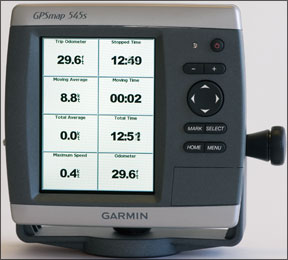 Garmin GPSMap 545s Display