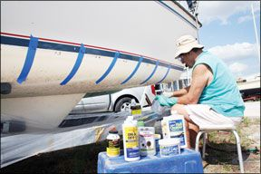 Sailboat Waterline Stain Cleaners