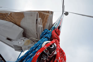 Mast-mounted rope clutches