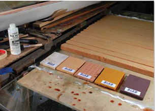 Composite marine cores laminated with epoxy resins