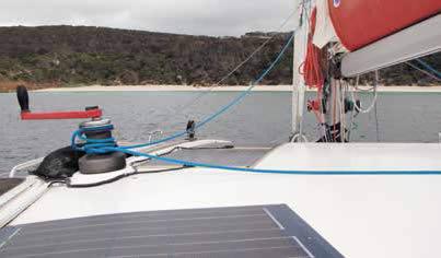 coachroof-mounted flexible solar panels