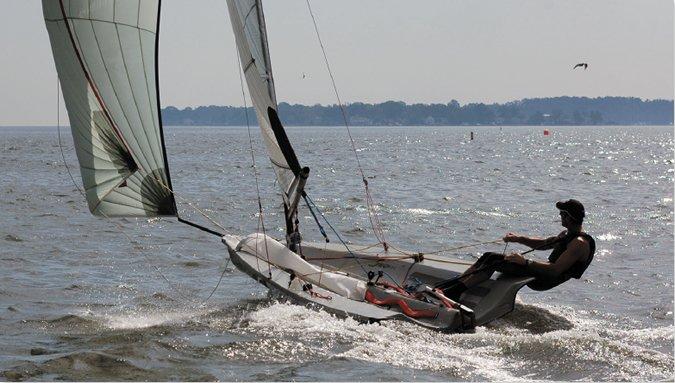 Skiff sailors