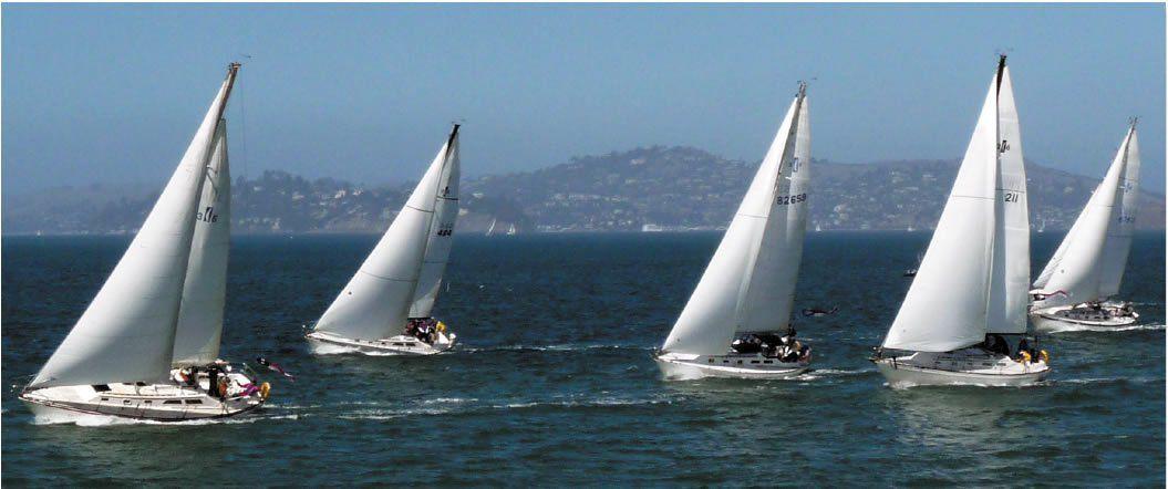 fleet of Islander 36s