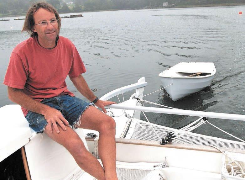 Dave Martin's 30-foot Polynesian-inspired Tiki catamaran