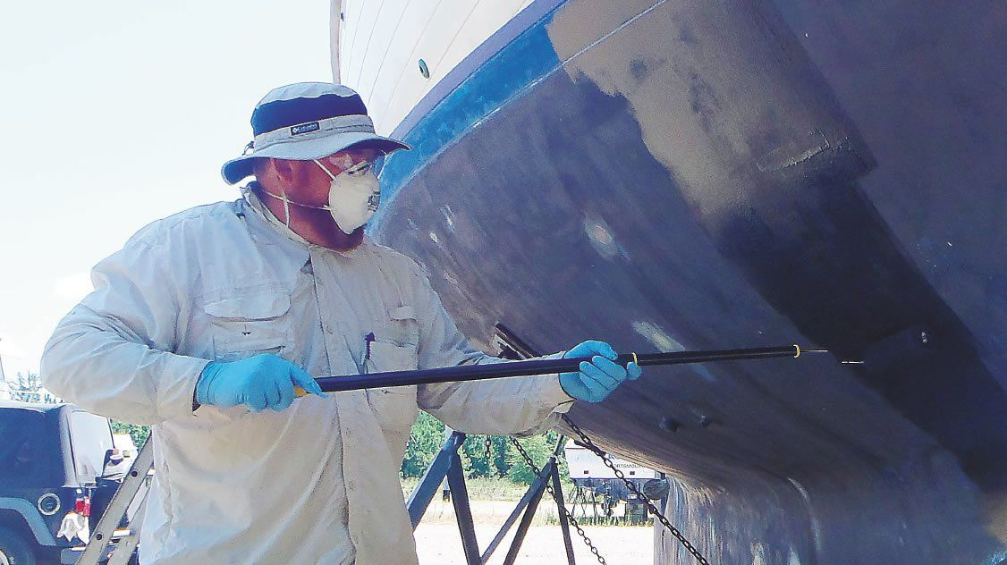 boat paint's application