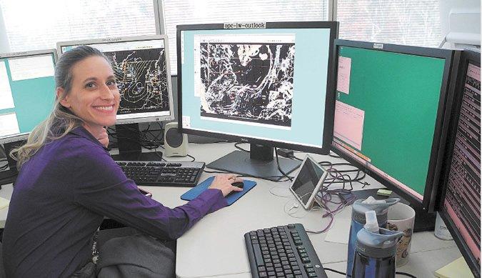 OPC Meteorologist Liz Sommerville