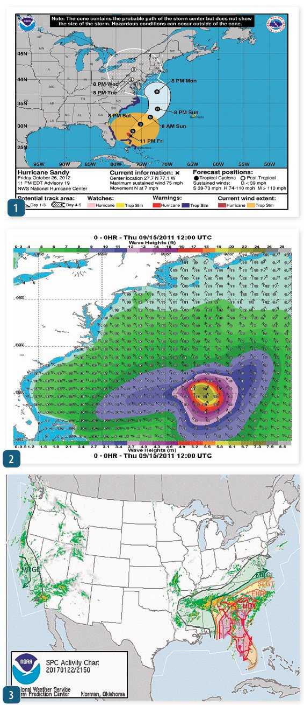 National Hurricane Center's graphic