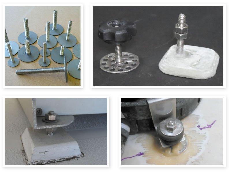 Glue-on fasteners