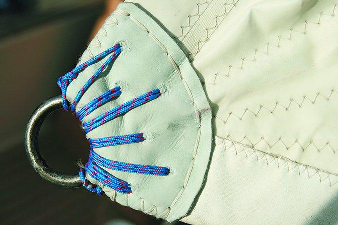 repairing mainsail clews
