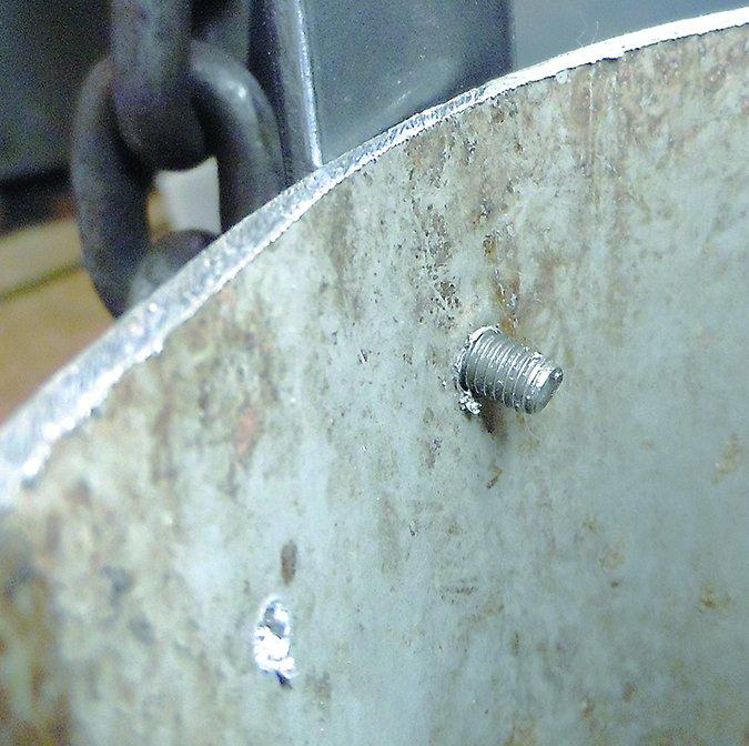 sailboat spar rivets