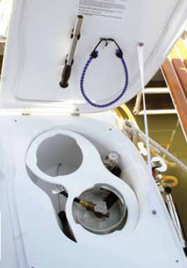 lpg locker meeting American Boat and Yacht Council safety standards