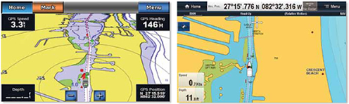 Garmin 740 and Raymarine e7