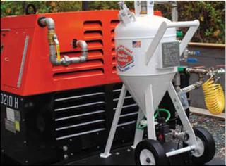 diesel-powered sodablasting unit