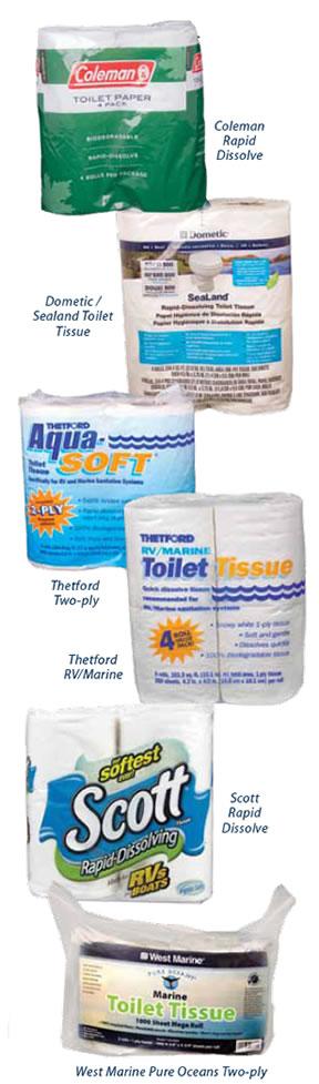 Quick-dissolve Toilet Paper Test