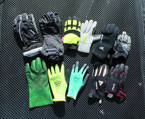 glove backs assortment of gloves