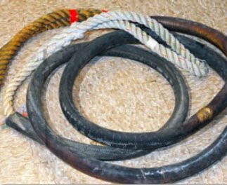 Used Nylon Three-Strand Rope Faces The Ultimate Endurance Test