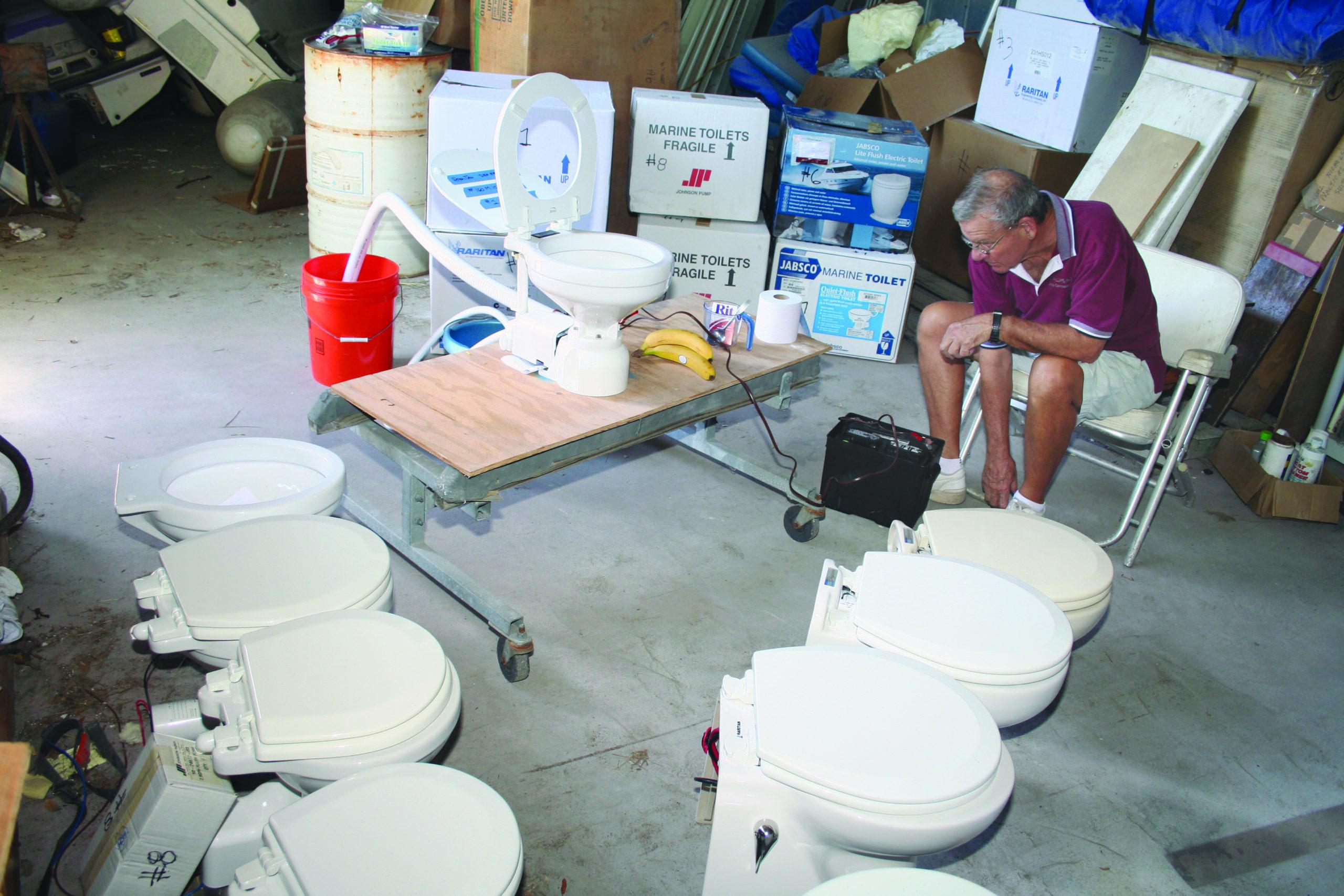 marine toilet test