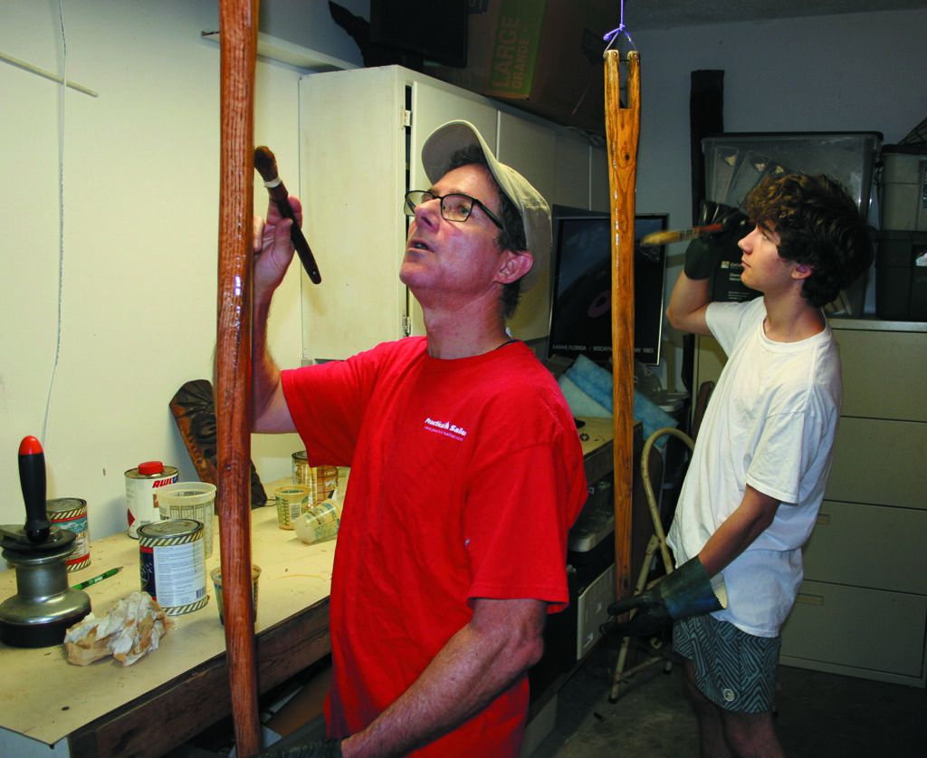 Pondering Options for Varnishing a Mast